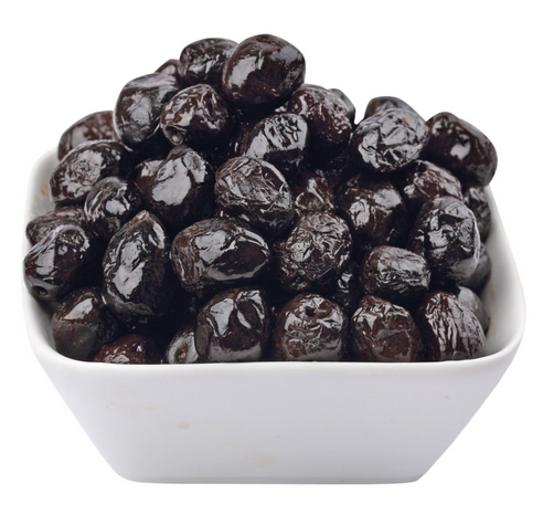 Krāsnī kaltētas melnās olīvas, saldenas, 300gr