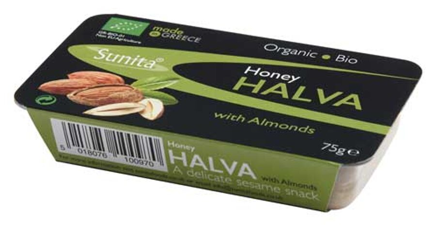 BIO sezama medus halva ar mandelēm, 75gr